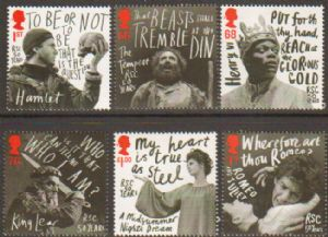 SG3173-3178 2011 Shakespeare Stamp Set
